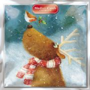 Medici Multi Charity Pack of 8 Christmas Cards - Robin & Reindeer